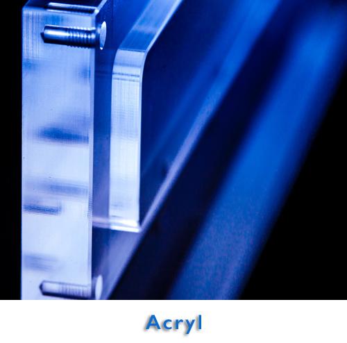 Acryl · Laserbeschriftung